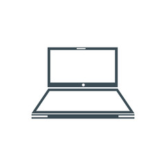 Laptop Icon in trendy flat style isolated on grey background. Computer symbol for your web site design, logo, app, UI. Vector illustration, EPS10.