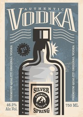 Vodka retro poster