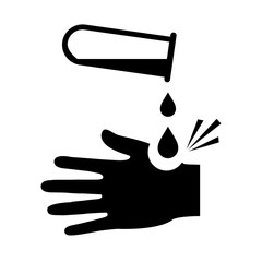 Corrosive acid warning vector pictogram