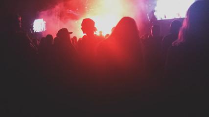 Amazing music festival night