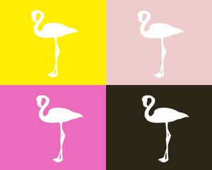 seamless flamingo pattern vector illustration
