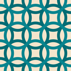 Big circles crossed seamless pattern