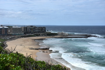 Newcastle Ocean Baths are a significant heritage asset that are free and open year round. The icon - standing alone on a wave cut rock platform dominating the city's coastline.