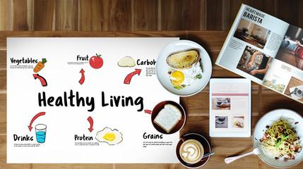 Healthy Eating Food Digram Concept