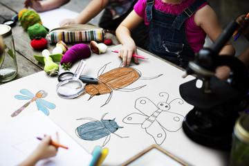 Kid Drawing Placard Felt Pen Table