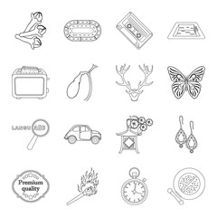 cosmetics, travel, cooking and other web icon in outline style.sport, hunting, lighting icons in set collection.