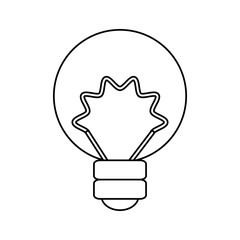 isolated energy bulb