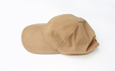 Brown cap isolated on a white background.