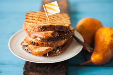 Whole grain baked sandwich