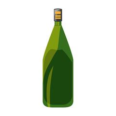 Wine bottle isolated