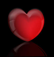 Valentines love heart icon artistic vector background