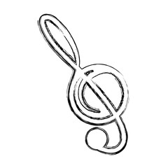 Music note isolated