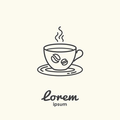 Logo template - cup of coffee