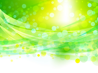 abstract wave green background