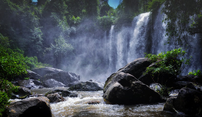 Waterfall on Phnom Kulen, Siem Reap, Cambodia