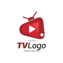 TV Logo Template Design Vector, Emblem, Design Concept, Creative Symbol, Icon