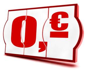 0,- Euro! Button, Icon