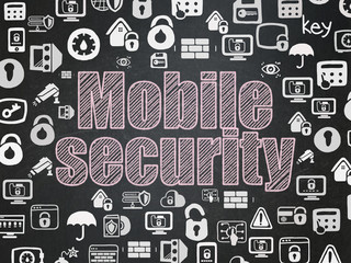 Security concept: Mobile Security on School board background