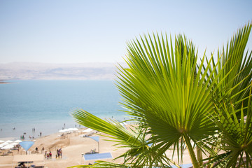 Dead sea Kalia beach Israel