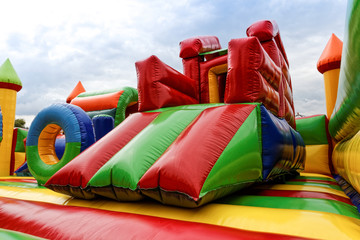 Inflatable slide for kids in playground