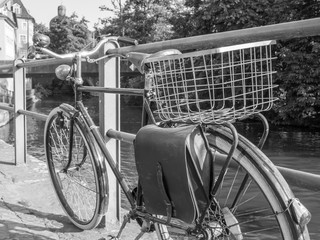 Vintage Schwarzweißfotografie Fahrrad
