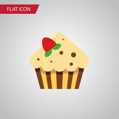 Isolated Sweetmeat Flat Icon. Confectionery Vector Element Can Be Used For Sweetmeat, Confectionery, Cupcake Design Concept.