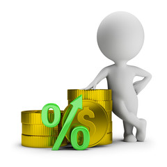 3d small people - deposit percentage