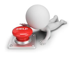 3d small people - help button