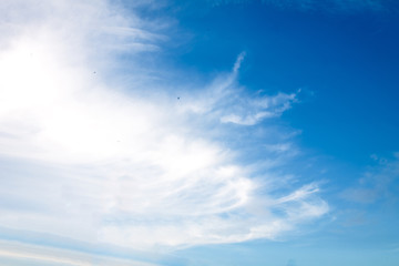 Blue and white sky background