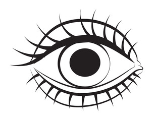 Cartoon image of Eye. An artistic freehand picture.