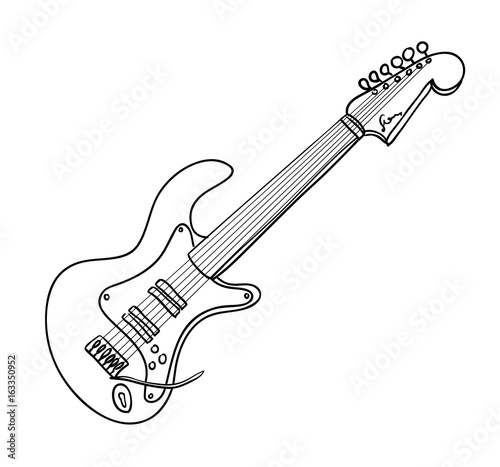 u0026quot cartoon image of guitar  an artistic freehand picture  u0026quot  stock image and royalty