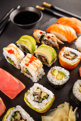 Poster Sushi bar Sushi rolls set