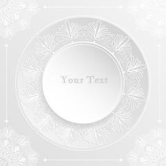 Vintage Lace Round Shape Invitation Card. Laser Cut Style. Paper Cut Concept.Vector/Illustration