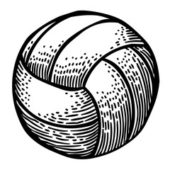 Cartoon image of Volleyball Icon. Sport symbol. An artistic freehand picture.