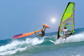 two sportman windsurfers