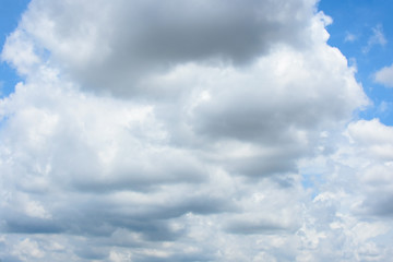 Blue sky background with cloud strom