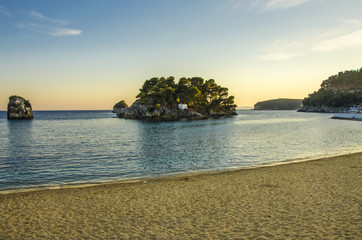 Parga, Greece - city beach