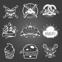 Bakery Monochrome Labels Vintage Style