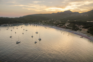 Valtos Beach sunset - Ionian Sea - Parga, Greece