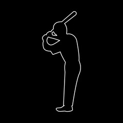 Ballplayer   the white path icon .