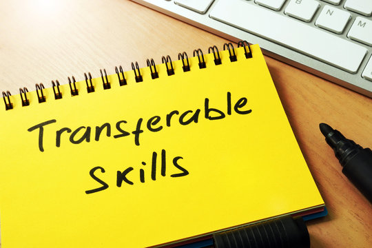 Transferable skills written on a page of notepad.
