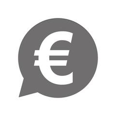 Graue Sprechblase rund - Euro Währung