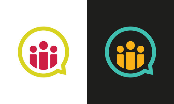 chat people group logo