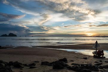 Photo Shooting at Ao Nang Beach during Sunset, Krabi, Thailand