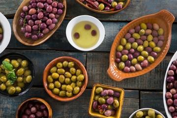 Pickled olives in bowl