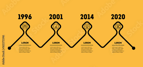 Horizontal Infographic timeline  Business concept with 4