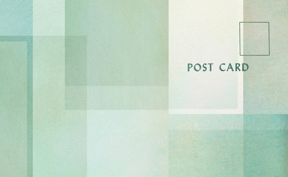 geometrische Formen auf Papier - Vintage Postkarten Design