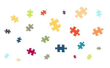 Viele bunte Puzzleteile - Puzzle