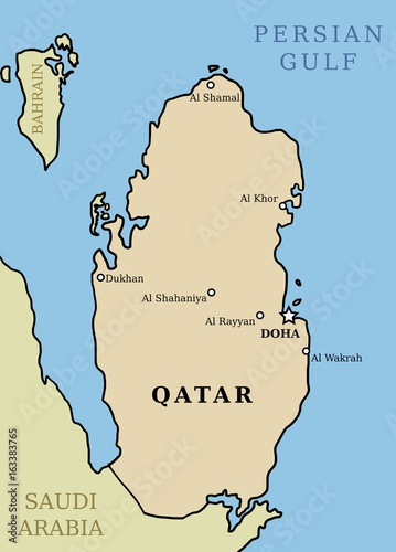 Qatar map\