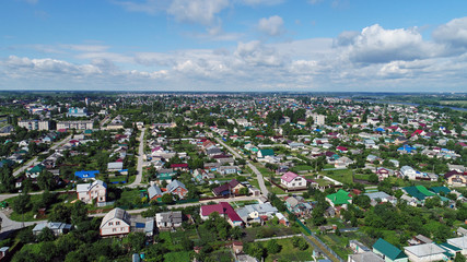 Top view of Gruazy town in Lipetsk oblast in Russia